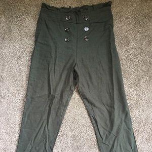 🌈 Paper Bag Pants, Boutique, Green, Size M